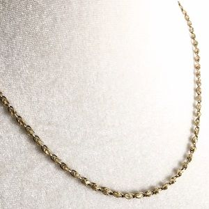 Vintage 14K Turkish Marquis Link Chain Necklace